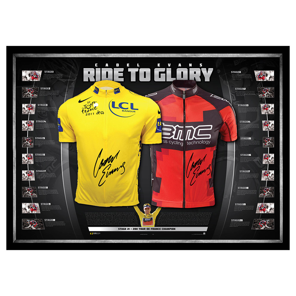 Cycling – Cadel Evans Signed & Framed Limited Edition 2011 ...