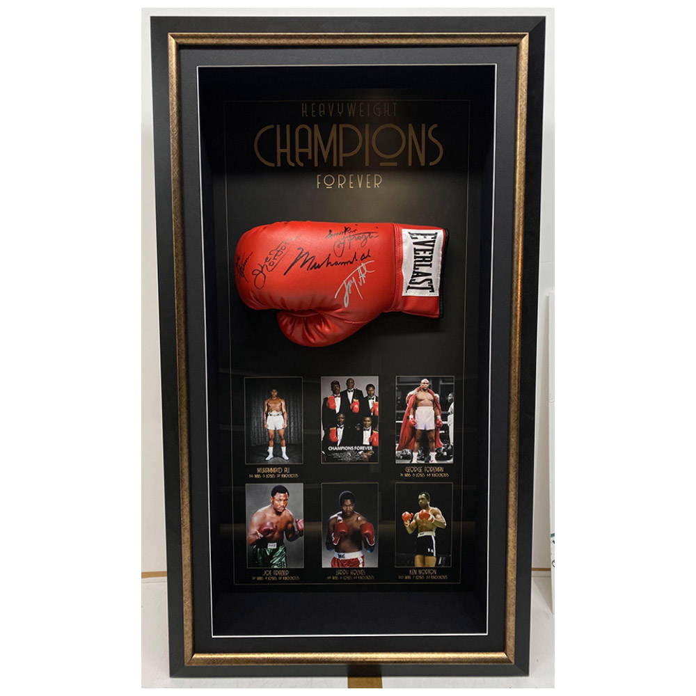"World Heavyweight ""Champions Forever"" Signed & Framed..."