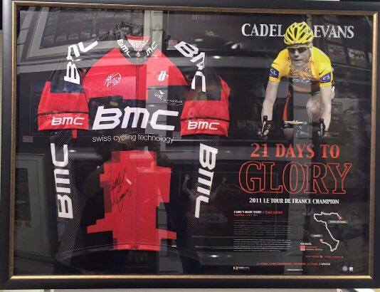 Cycling – Cadel Evans Signed & Framed Limited Edition &#821...