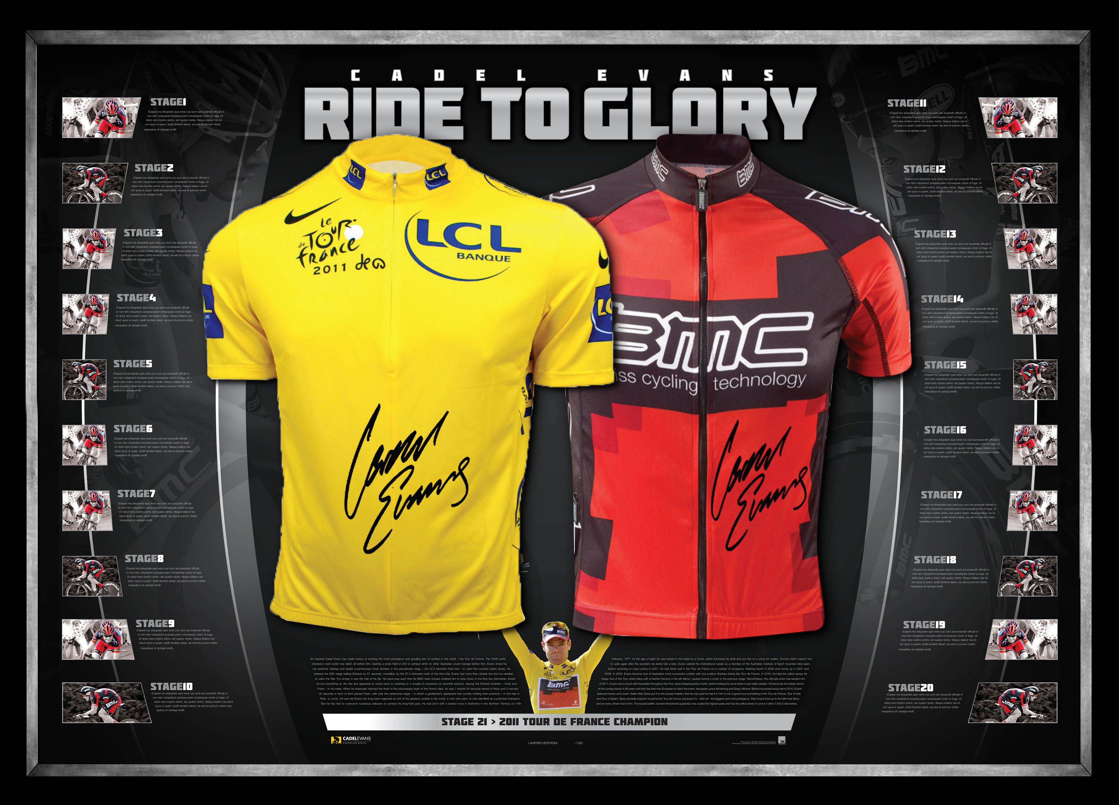 BMC,Dual,Glory',to,'Ride,Edition,Limited,Framed,Signed ...