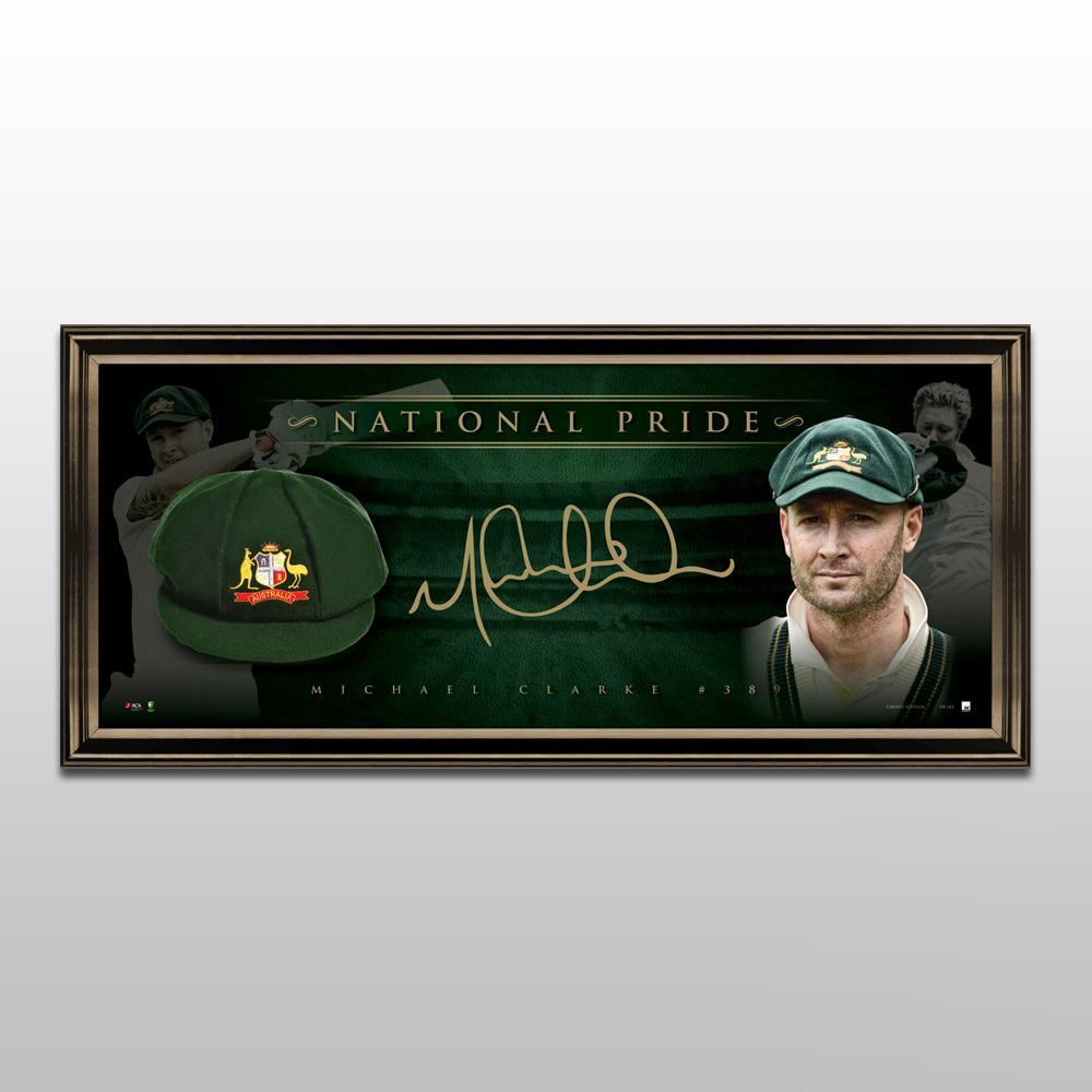 Cricket – Michael Clarke Signed & Framed Limited Edition Ba...