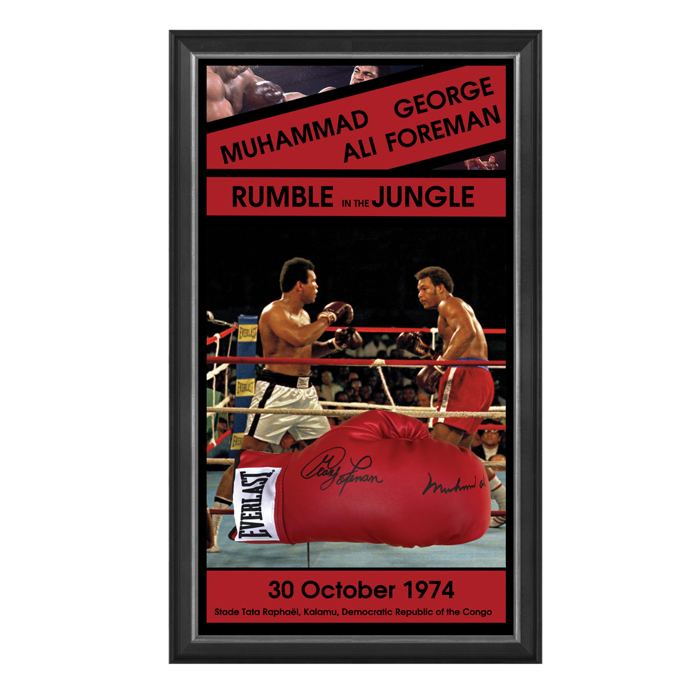 Muhammad Ali v George Foreman – Rumble in the Jungle Signed and ...