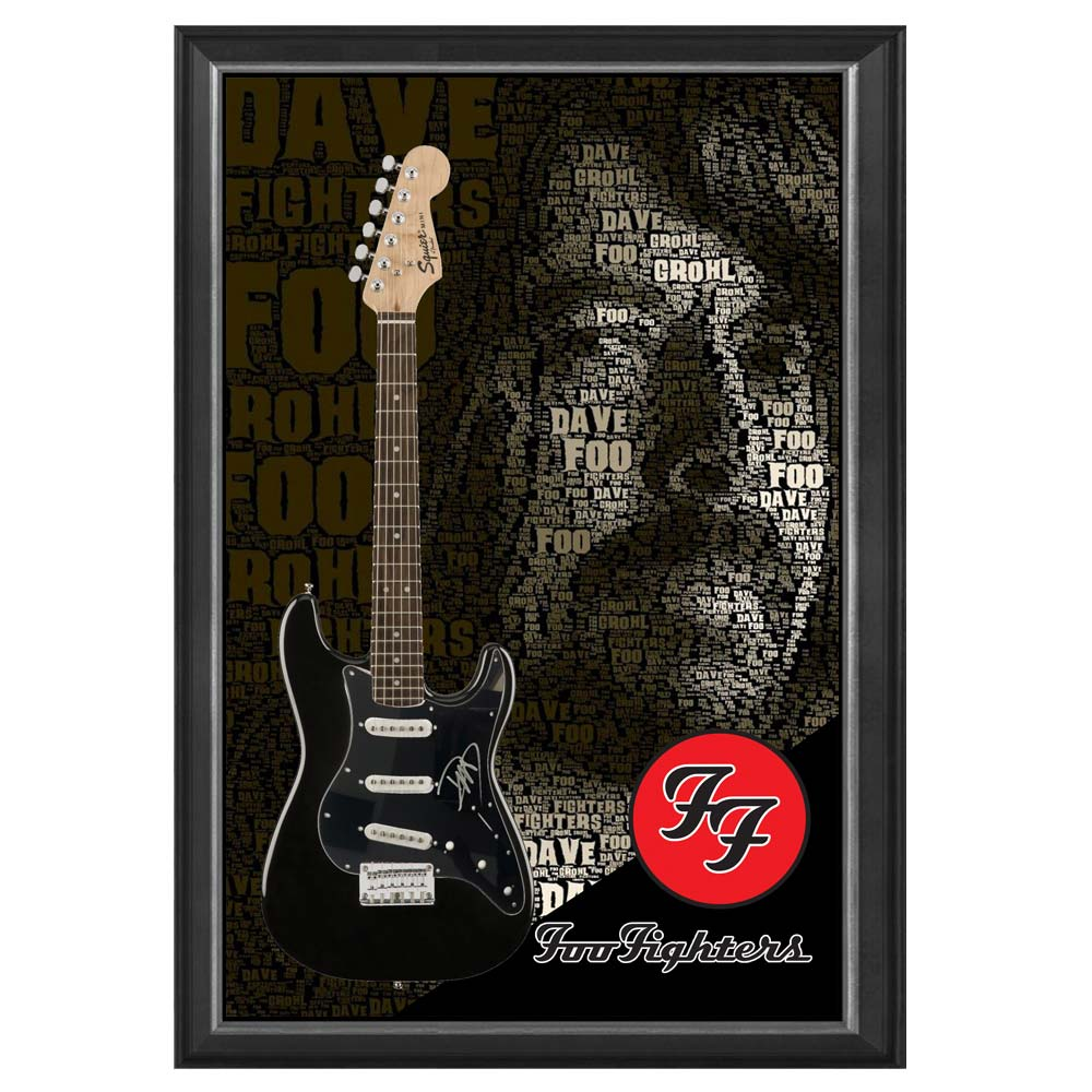 Music – Dave Grohl Hand Signed & Framed Full size Stratocaster ...