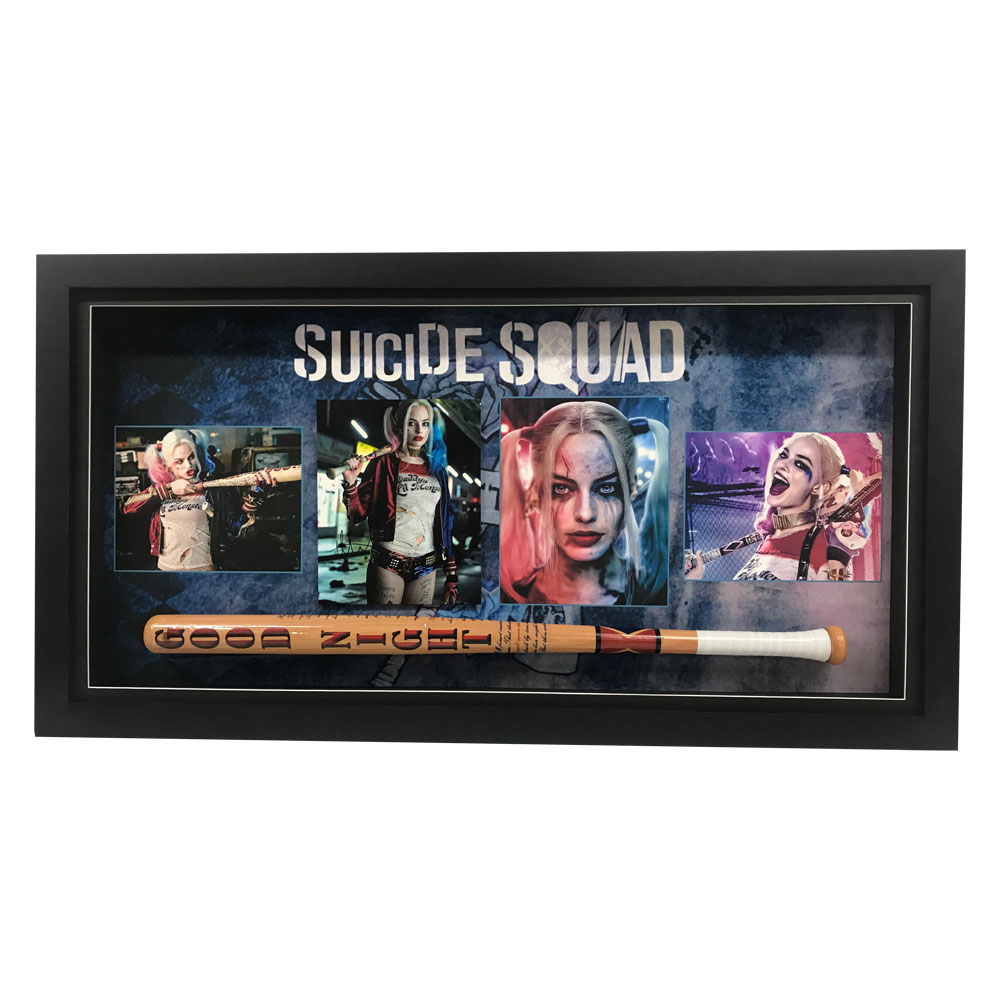 Suicide Squad Signed and Framed Photograph with Bat