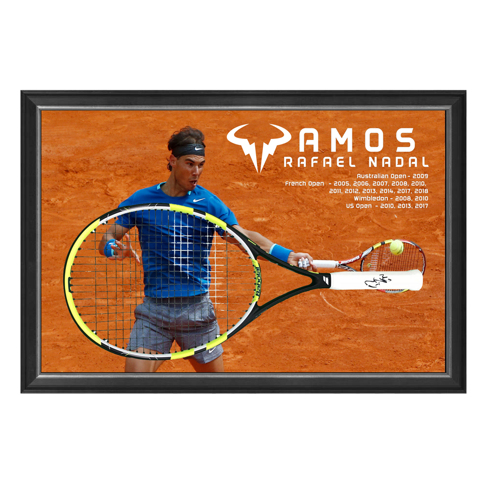 Rafael Nadal Signed and Framed Tennis Racquet