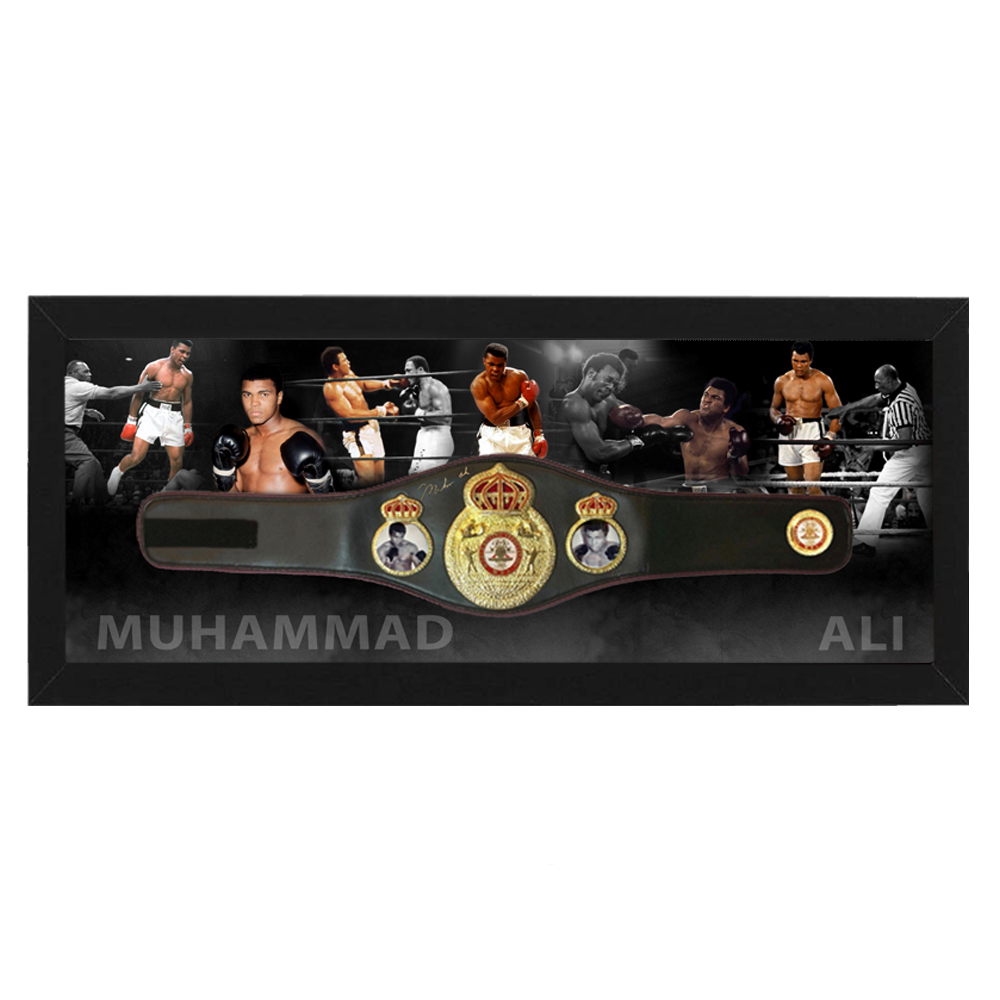Boxing – Muhammad Ali Signed and Framed Heavyweight WBA Belt