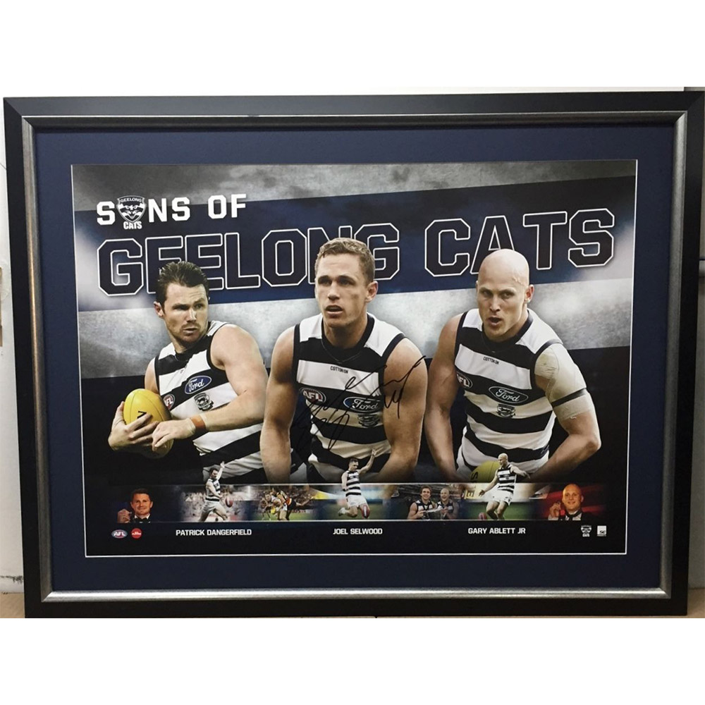 Geelong Cats – Joel Selwood Signed & Framed Sons of Geelong...