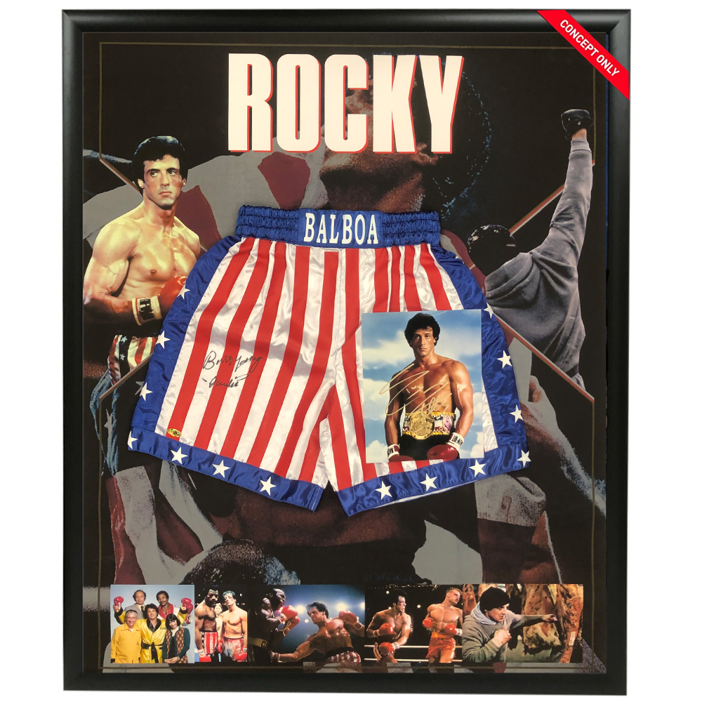 ROCKY – Sylvester Stallone & Burt Young – Signed ...