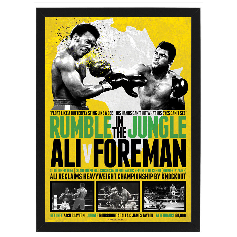 Boxing – Rumble in the Jungle Ali vs Foreman Framed Poster